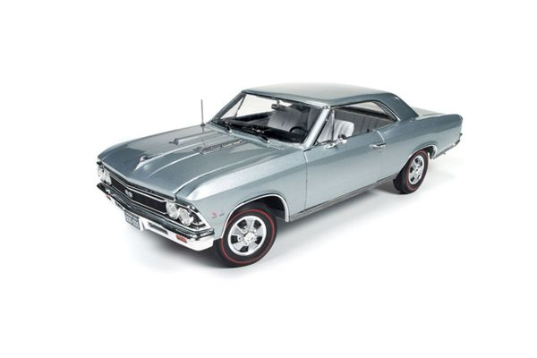 AMERICAN MUSCLE 1/18scale 1966 Chevrolet Chevelle SS Chateau slate Silver [No.AMM1090]