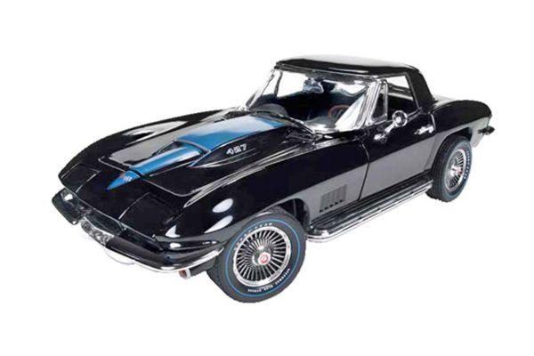 AMERICAN MUSCLE 1/18scale 1967 Chevy Corvette Roadster Tuxedo Black  [No.AMM1099]