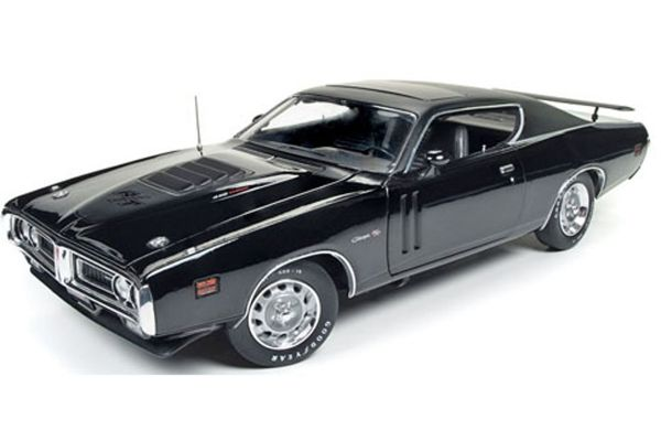 AMERICAN MUSCLE 1/18scale 1971 Dodge Charger R/T Hard Top with Sunroof TX9 Black  [No.AMM1107]