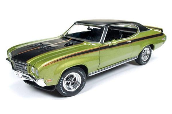 AMERICAN MUSCLE 1/18scale 1971 Buick Skylark GSX (Hemmings Muscle Machine) Limemist green  [No.AMM1117]