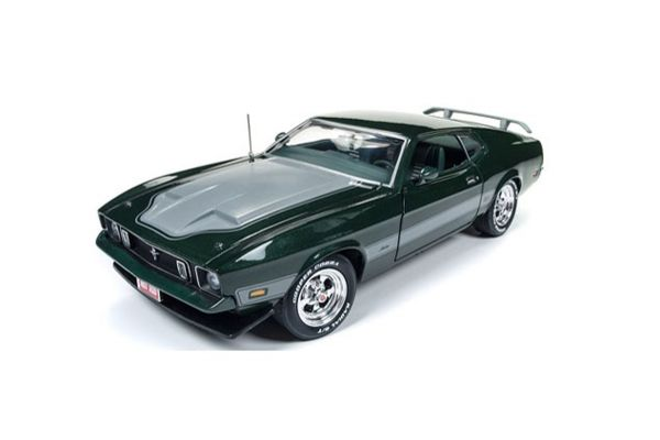 AMERICAN MUSCLE 1/18scale 1973 Ford Mustang Mach1 (Hot Rod Magazine) (Dark Green)  [No.AMM1144]