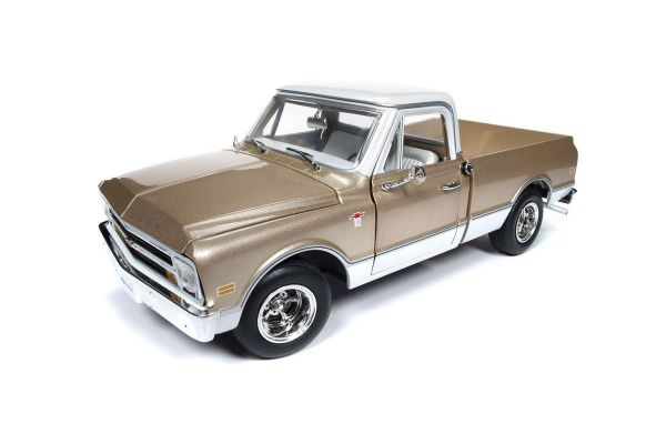 AMERICAN MUSCLE 1/18scale 1968 Chevy C10 Fleet Side Pickup (Gold / White)  [No.AMM1165]