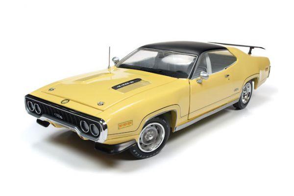AMERICAN MUSCLE 1/18scale 1971 Plymouth GTX (MCACN) Lemon Twist Yellow  [No.AMM1186]