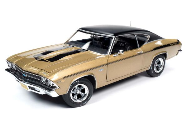 AMERICAN MUSCLE 1/18scale 1969 Chevy Chevelle Yenko (Olympic Gold)  [No.AMM1206]