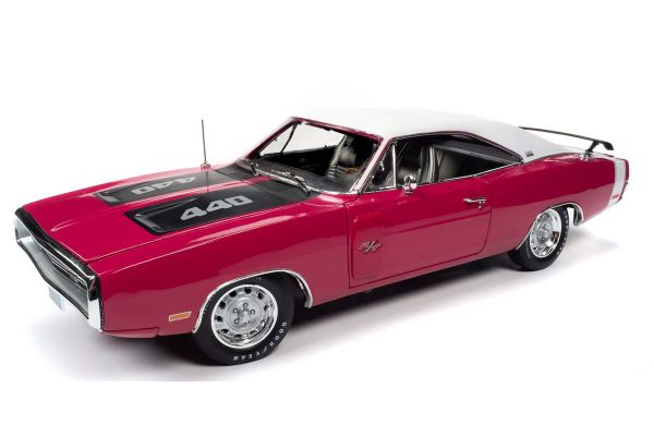 AMERICAN MUSCLE 1/18scale 1970 Dodge Charger R / T SE Panther Pink  [No.AMM1215]