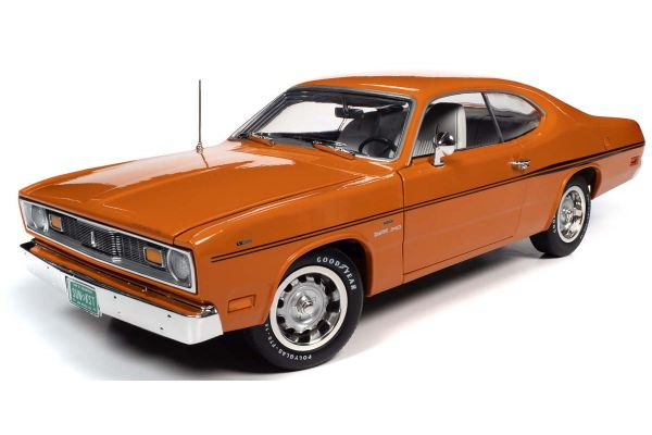 AMERICAN MUSCLE 1/18scale 1970 Plymouth Duster 2-Door Vitamin C Orange  [No.AMM1239]