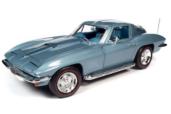 AMERICAN MUSCLE 1/18scale 1967 Chevy Corvette Elkhart Blue  [No.AMM1241]
