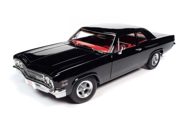 AMERICAN MUSCLE 1/18scale 1966 Chevy Biscayne (Nickey) Tuxedo Black  [No.AMM1259]