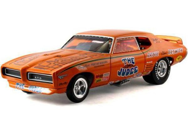 AMERICAN MUSCLE 1/18scale 1969 Pontiac GTO Super Judge Funny Car  [No.AMM970]