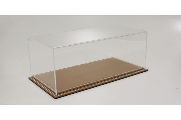 ATLANTIC CASE 1/18scale Maranello flat leather base (light / brown) & acrylic case  [No.ATL10011]