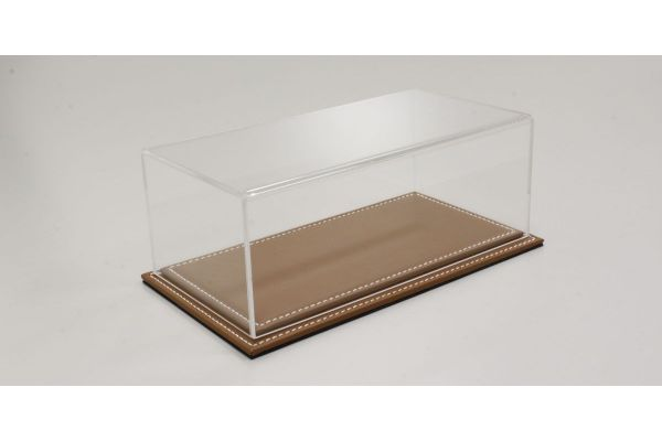 ATLANTIC CASE 1/24scale Maranello flat leather base (light / brown) & acrylic case  [No.ATL10021]