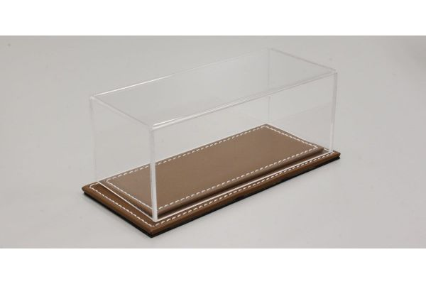 ATLANTIC CASE 1/43scale Maranello flat leather base (light / brown) & acrylic case  [No.ATL10031]