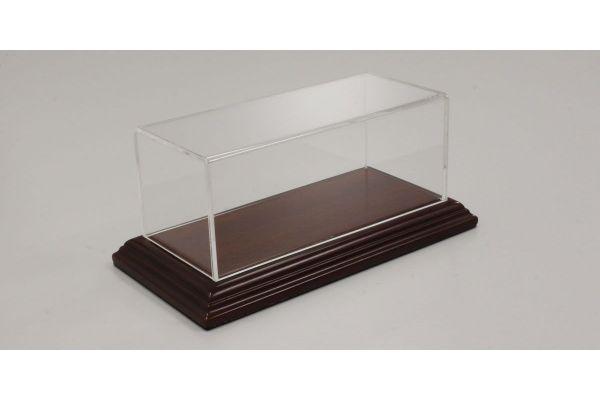 ATLANTIC CASE 1/43scale Aichi narrow edge wood base (mahogany / brown) & acrylic case  [No.ATL10051]