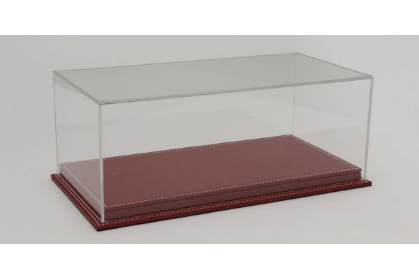 ATLANTIC CASE 1/18scale Mulhouse Raised Leather Base (Thick / Red) & Acrylic Case  [No.ATL10072]