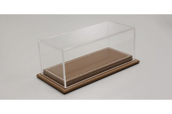 ATLANTIC CASE 1/43scale Mulhouse Raised Leather Base (Thick / Brown) & Acrylic Case  [No.ATL10083]