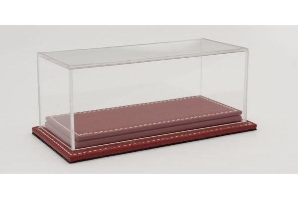 ATLANTIC CASE 1/43scale Mulhouse Raised Leather Base (Thick / Red) & Acrylic Case  [No.ATL10084]