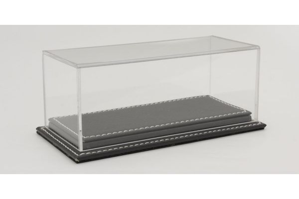 ATLANTIC CASE 1/43scale Mulhouse Raised Leather Base (Thick / Gray) & Acrylic Case  [No.ATL10135]