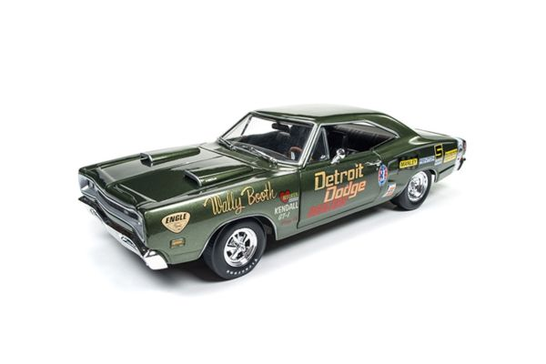 AMERICAN MUSCLE 1/18scale 1969 Dodge Super Bee Wally Booth Dark Green  [No.AW234]