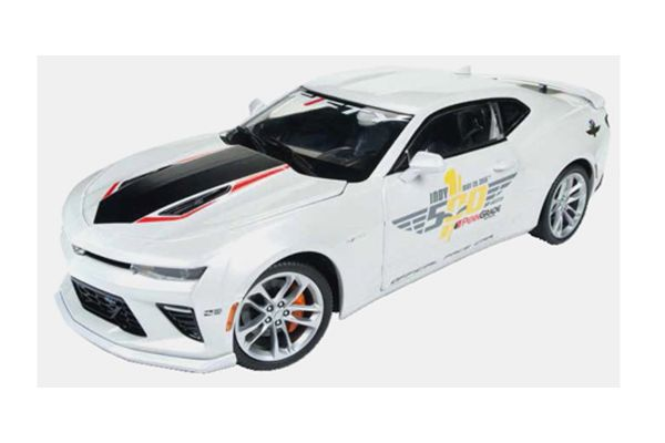AMERICAN MUSCLE 1/18scale 2017 Chevy Camaro Indy Pescar 50th Anniversary White  [No.AW236]