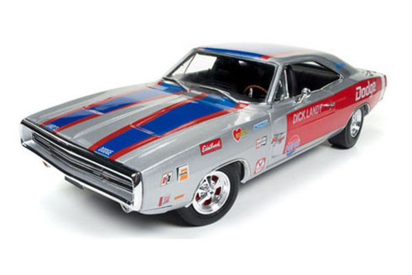 AMERICAN MUSCLE 1/18scale 1970 Dodge Charger R/T Dick Landy Silver/Red  [No.AW238]