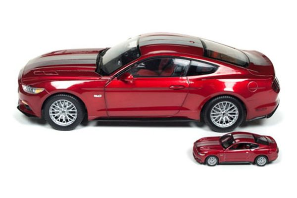 AMERICAN MUSCLE 1/18scale 2017 Ford Mustang GT (Ruby Red) With 1/64 scale model  [No.AW245]