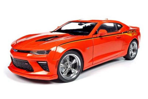 AMERICAN MUSCLE 1/18scale 2016 Chevy Camaro Hartop MCACN & NICKEY Hugger Orange  [No.AW256]
