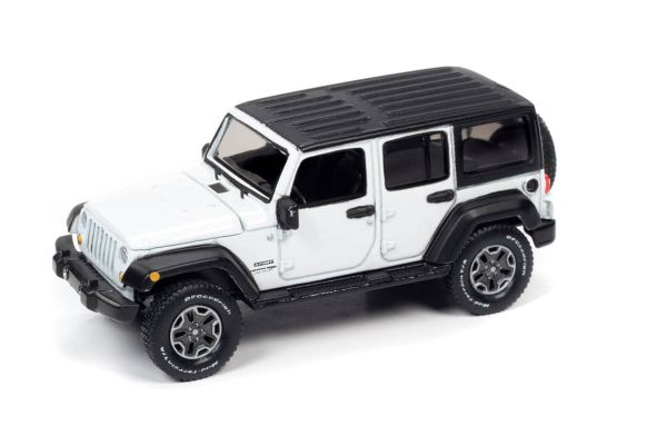 AUTO WORLD 1/64scale 2018 Jeep Wrangler JK Gloss White / Flat Black  [No.AW64262A2W]