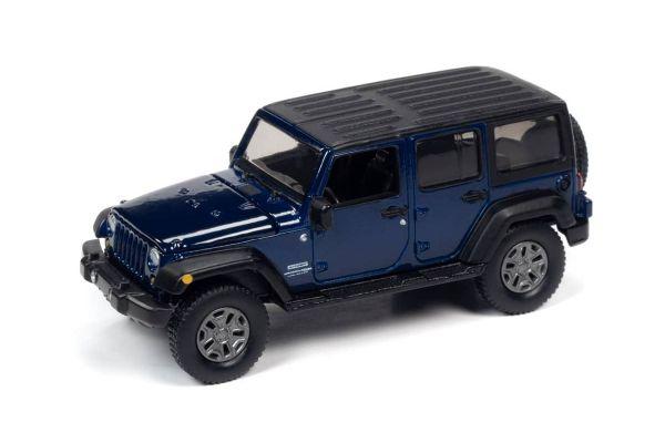 AUTO WORLD 1/64scale 2018 Jeep Wrangler JK Blue / Flat Black  [No.AW64262B2BL]