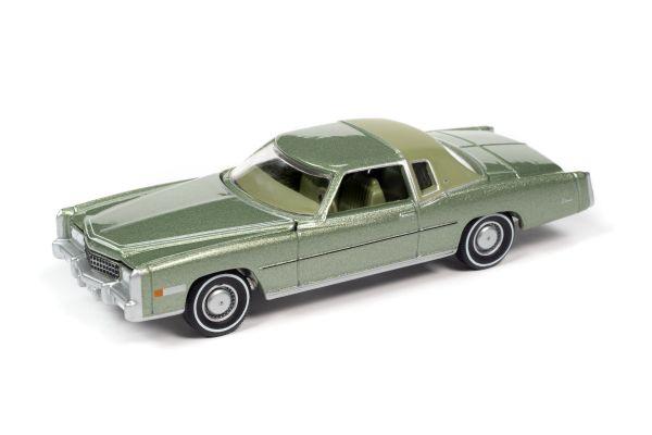 AUTO WORLD 1/64scale 1975 Cadillac Eldorado Partial Vinyl Top Green  [No.AW64282A5G]