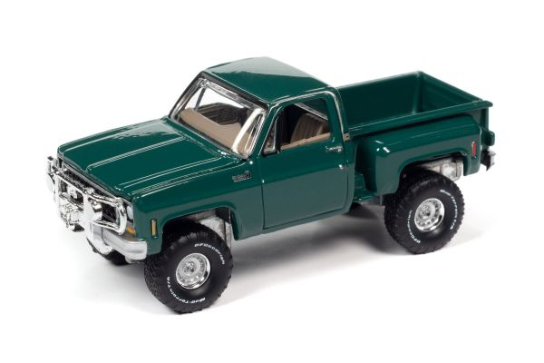 AUTO WORLD 1/64scale 1980 Chevy Custom Deluxe 10 Side Step Green  [No.AW64282B3G]