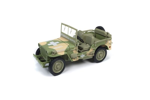 AMERICAN MUSCLE 1/18scale 1941 Jeep Willy Army Medical Vehicle (Camouflage)  [No.AWML005A]