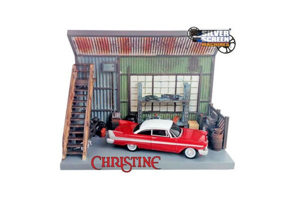AMERICAN MUSCLE 1/64scale Christine Darnell Garage Diorama + 1958 Primus Fury Set  [No.AWSD001]