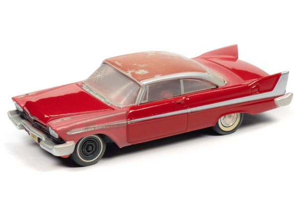 AUTO WORLD 1/64scale Christine 1958 Plymouth Fury Red (partially restored)  [No.AWSP039]
