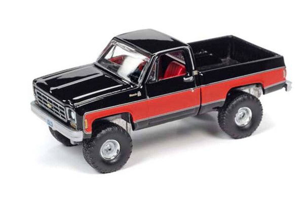 AUTO WORLD 1/64scale 1978 Chevy K10 (Black / Red)  [No.AWSP044A]