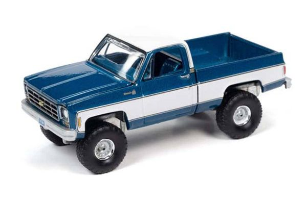 AUTO WORLD 1/64scale 1978 Chevy K10 (blue / white)  [No.AWSP044B]