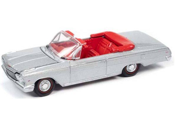 AUTO WORLD 1/64scale 1962 Chevy Impala SS Convertible (Satin Silver)  [No.AWSP045A]