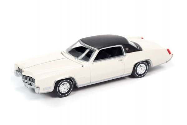 AUTO WORLD 1/64scale 1967 Cadillac Eldorado Greek White / Black Roof  [No.AWSP047A]