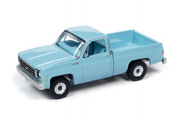 AUTO WORLD 1/64scale 1979 Chevrolet C10 Scottsdale Light Blue  [No.AWSP048A]