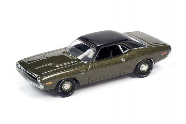 AUTO WORLD 1/64scale 1970 Dodge Challenger R / T Dark Green / Black Roof  [No.AWSP050A]