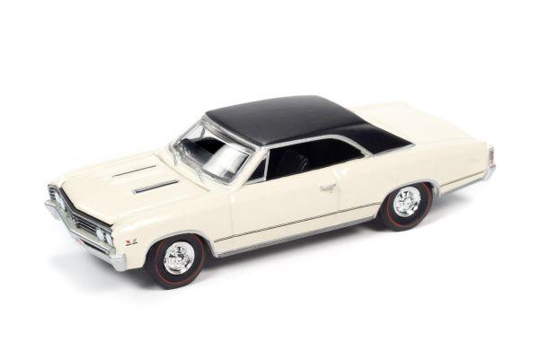 AUTO WORLD 1/64scale 1967 Chevy Chevelle SS Capri Cream / Black Roof  [No.AWSP051B]