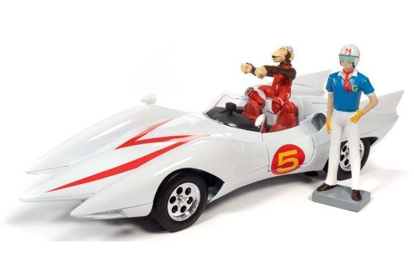 AUTO WORLD 1/18scale Speed Racer Mach 5 Speed Racer (Gou Mifune) & Chim Chim (Sanpei) with figure  [No.AWSS124]