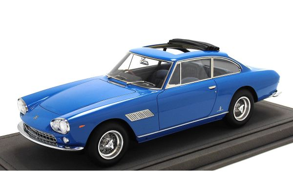 BBR 1/18scale Ferrari 330GT 2 + 2 open roof  Blue John Lennon owned car  with case [No.BBR1834V]