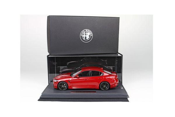 BBR 1/18scale Alfa Romeo GIULIA 2015 limited with (Metallic Red) Case 60pcs  [No.BBRC1806V1]