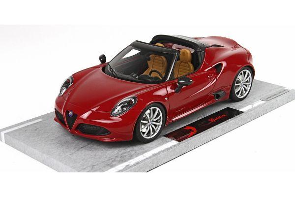 BBR 1/18scale Alfa Romeo 4C Spider 2015 (Alpha Red)   [No.BBRC1808B]