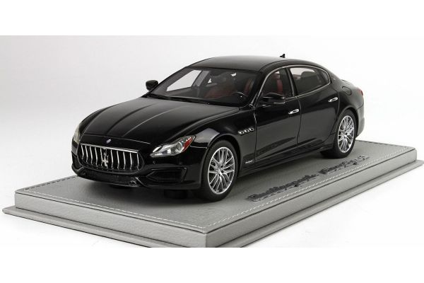 BBR 1/18scale Maserati Quattro Porte MY17 GranSport 2015 Nero Ribelet with Case  [No.BBRC1822CV]