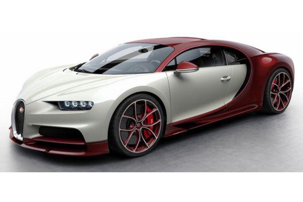 MR Collection 1/18scale Bugatti Chiron Red Carbon/Glacier  [No.BUG06E]