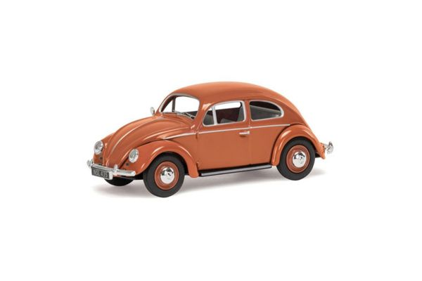 CORGI 1/43scale VW Beetle Coral Oval Rear Window Saloon  [No.CGVA01207]