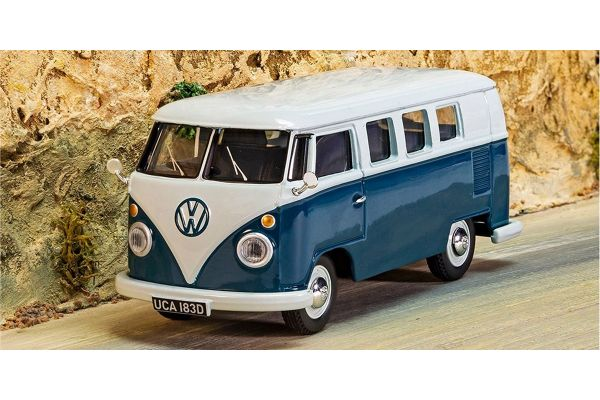 CORGI 1/43scale Volkswagen Type 2 Camper Sea Blue and Cumulus White  [No.CGVA08102]