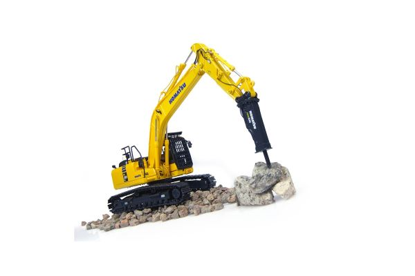 UNIVERSAL HOBBIES 1/50scale Komatsu PC210 LC-10 Hammer Drill  [No.E8096]