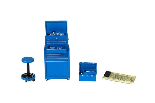 MOTOR HEAD MINIATURES  1/24scale Tire Bridge Shop Tool Set (Blue)  [No.FPM192]